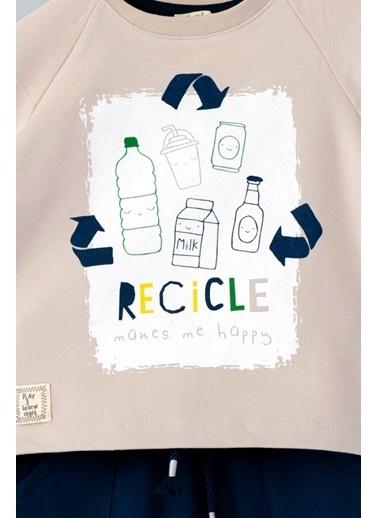 Cigit Recicle T-shirt ve Şalvar Takım Bej